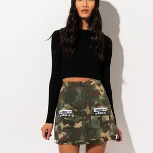 ADIDAS WOMENS CAMO MINI SKIRT